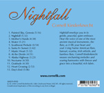 Cornell Kinderknecht, Nightfall CD - back cover