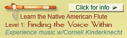 Finding the Voice Within, Native flute class with Cornell Kinderknecht
