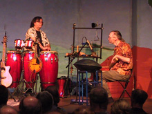 Returning Home CD release concert - Billy Bucher, congas; Frank Lunsford, percussion, July 9, 2005, Richardson, Texas