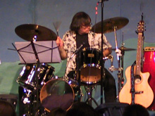 Returning Home CD release concert - Billy Bucher, drums, July 9, 2005, Richardson, Texas