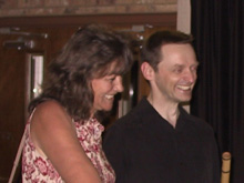 Cornell Kinderknecht with his sister, Janetta, following the Returning Home CD release concert, July 9, 2005, Richardson, Texas