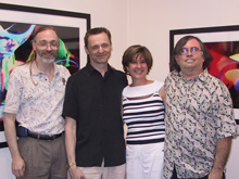 Frank Lunsford, Cornell Kinderknecht, Cynthia Stuart, Billy Bucher. August 5, 2005, Accent Gallery and Framing, Dallas, Texas