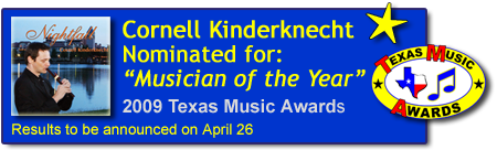 Cornell Kinderknecht nominated Musician of the Year