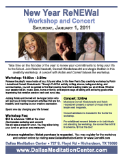 New Year's Day Workshop and Concert with Cornell Kinderknecht and Robin Hackett