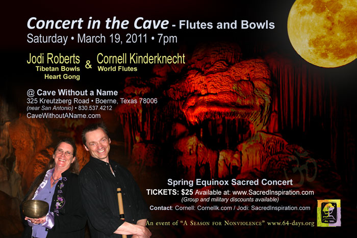Cornell Kinderknecht and Jodi Roberts, World Flutes and Tibetan Bowls Concert