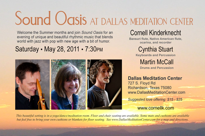 Sound Oasis: Cornell Kinderknecht, Cynthia Stuart and Martin McCall - May 28, 2011 - Richardson/Dallas, Texas