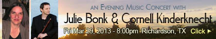Concert with Julie Bonk and Cornell Kinderknecht - March 29, 2013