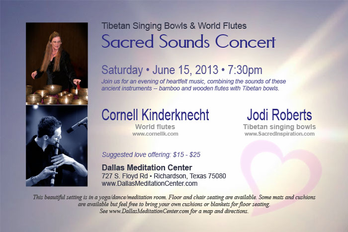 Sacred Sounds Concert, Cornell Kinderknecht and Jodi Roberts - June 15, 2013 - Richardson/Dallas, Texas