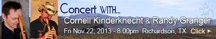 Concert with Randy Granger and Cornell Kinderknecht - November 22, 2013