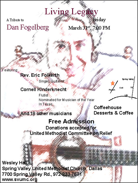 A Living Legacy Concert - Tribute to Dan Fogelberg