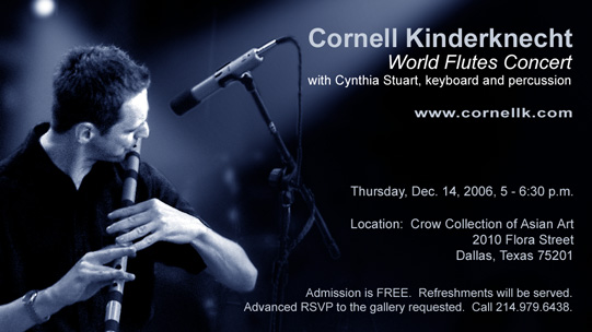 Cornell Kinderknecht, World Flutes Concert - Dallas, Texas